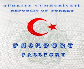 Fragment of old Turkish passport