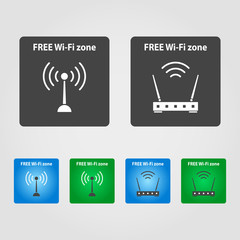 free wi-fi signs