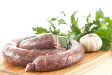 raw liver sausage home