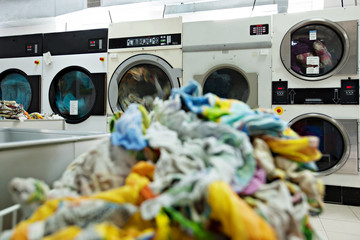 Image of dirty linens are laundered