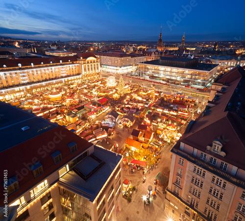 canvas print picture Weihnachtsmarkt Dresden