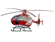 Red helicopter on white background - 71651619