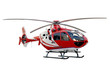 Red helicopter on white background - 71651630