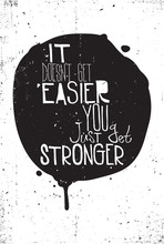 Black and white grungy poster with quote