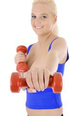 Krafttraining mit Hantel und Gewichten