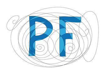 Blue PF word