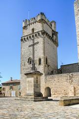 Provencal village Saint - Laurent des Arbres, south of France