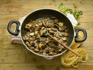 Tagliatelle ai funghi Cucina italiana Itaalia köök Expo 2015