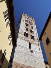Campanario San Frediano, Lucca, Italia