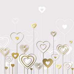 Sweet gold hearts