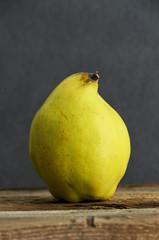 Fresh ripe quince fruit