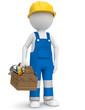 Handwerker mit Helm und Werkzeug