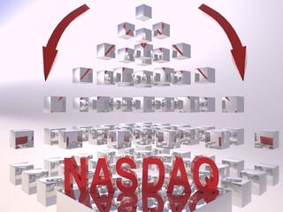 Nasdaq 3D Recession Concept