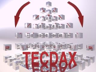 TecDax 3D Recession Concept