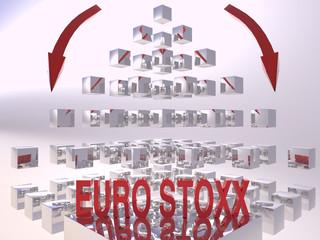 EuroStoxx 3D Recession Concept