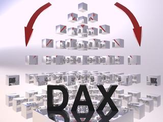 DAX 3D Rescession Concept Black