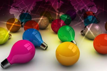 3d color bulbs