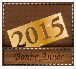 bonne année 2015 cuir