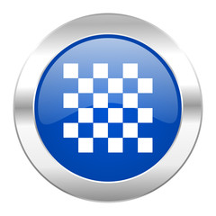 chess blue circle chrome web icon isolated