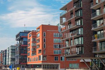 Modern buildings in the Hafencity in Hamburg