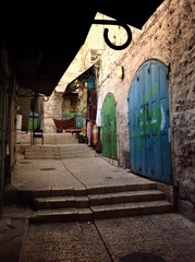 street in old street of arabic quarter, Jerusalem
