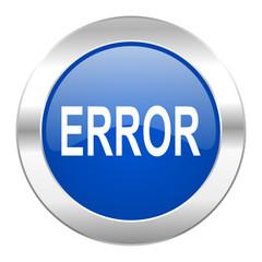 error blue circle chrome web icon isolated