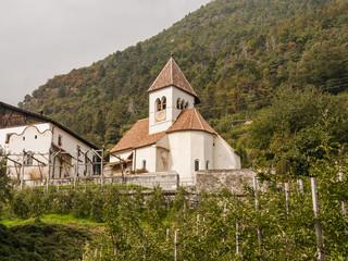 Meran, Vinschgau, Waalweg, Algund, Südtirol, Herbst, Italien