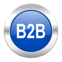 b2b blue circle chrome web icon isolated