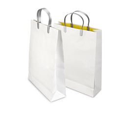 Two Shopping Bags opened and closed