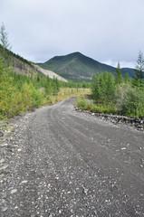 Soil highway in Yakutia.