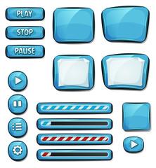 Cartoon Diamonds Elements For Ui Game