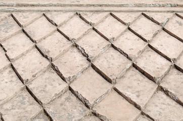 concrete roof at taman sari water castle