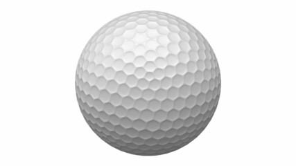 Rotating golf ball with alpha mask