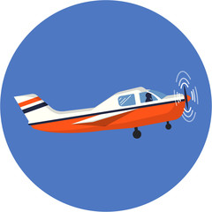 Vector Airplane Flat Illustration