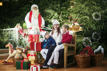 waiting for the gifts at the home of Santa Claus