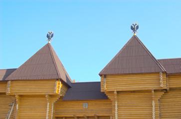 Symbols eagles on rooftops