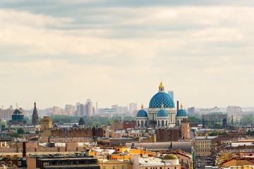 Cityscape of St. Petersburg with the Trinity Cathedral