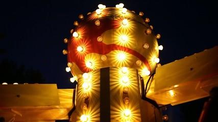 evening light at the amusement park