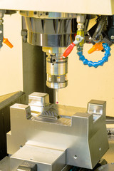 CNC machining center inspection dimension on machine