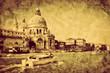 Venice, Italy. Grand Canal and Basilica Santa Maria della Salute