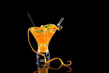 Fresh orange Mojito cocktail