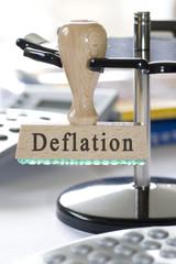 """Stempel mit der Aufschrift """"Deflation"""""""
