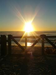 Sonnenuntergang am Strand von Mimizan Plage