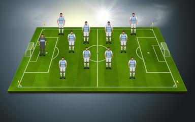Aufstellung Argentinien