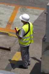 Opérateur sur un chantier