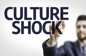 Business man pointing the text: Culture Shock