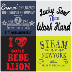 Slogan Set Man T shirt Graphic Design