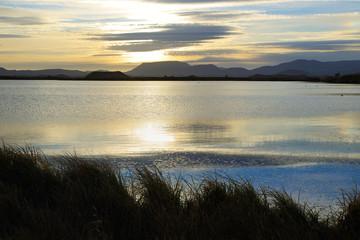 Sunrise landscape around Lake Myvatn