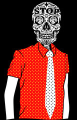 Skull Man T shirt Graphic Vector Design