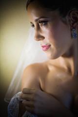 Noiva em foto de perfil